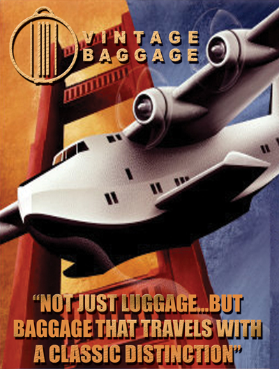 Vintage Baggage Plane Image with Logo and Slogan